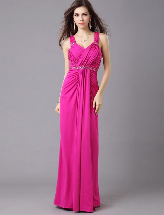 Свадьба - Sheath Column Straps Floor Length Red Evening Dress