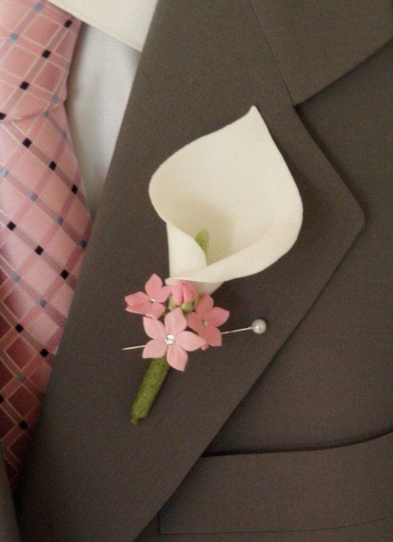 Свадьба - Custom Calla Lilly Boutonniere