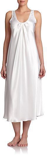 Mariage - Oscar de la Renta Sleepwear Satin Charmeuse Long Gown