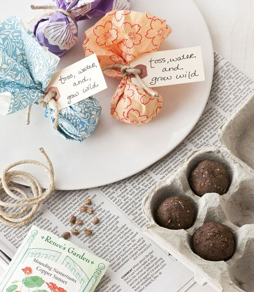 Свадьба - DIY Wedding Favors: Seed Bombs