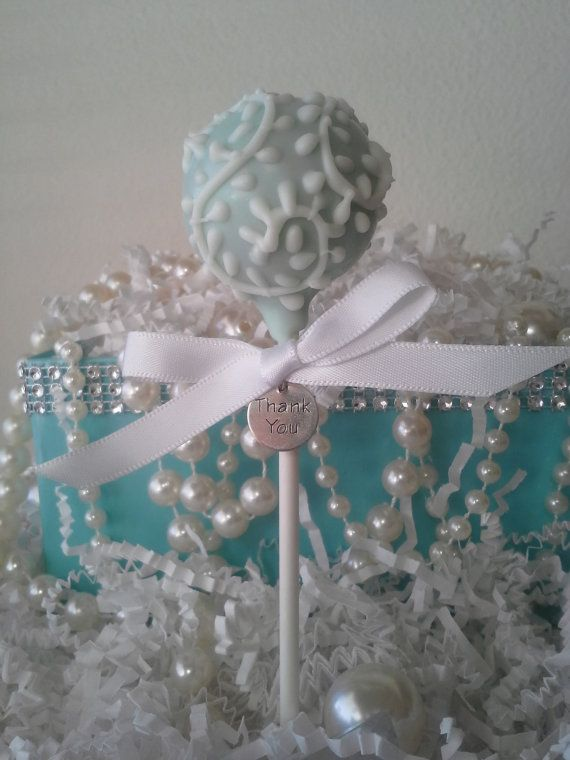 tiffany blue cake pops breakfast at tiffanys bridal shower wedding birthday edible favor