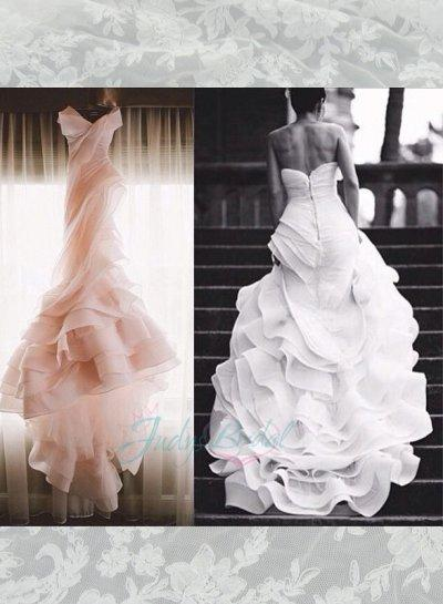 Strapless Dresses - Organza Mermaid Wedding Dress #2195820 - Weddbook
