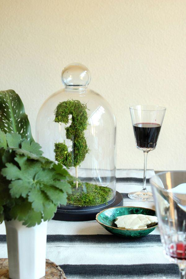 زفاف - Moss Table Numbers