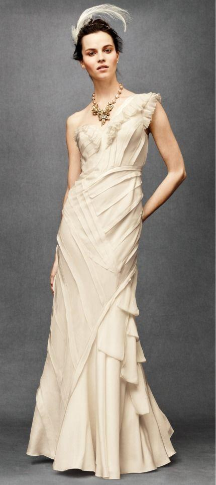 Mariage - One Shoulder Strap Wedding Dress Inspiration
