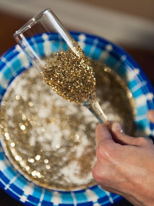 Wedding - How To Make Glitter Champagne Flutes