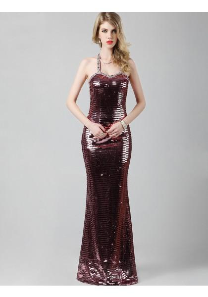 Свадьба - Sheath Column Jewel Floor Length Red Evening Dress