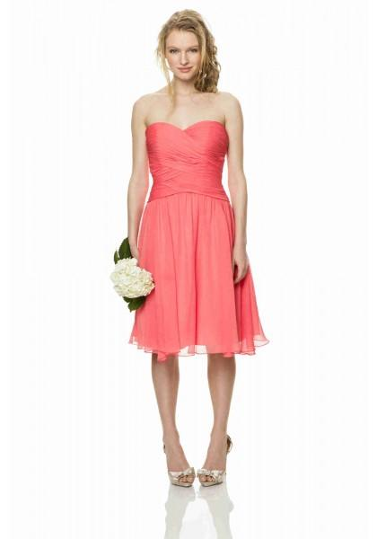 Boda - Sweetheart Knee Length Pink A Line Bridesmaid Dress