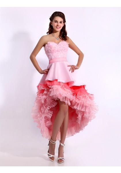 Hochzeit - Sweetheart High Low Sleeveless A Line Cocktail Dress