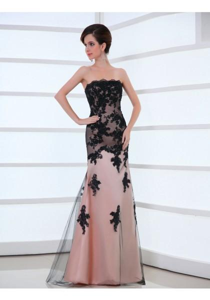Mariage - Strapless Floor Length Sleeveless Trumpet Mermaid Evening Prom Dress