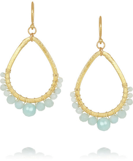 Chan Luu Gold-plated Amazonite Earrings 8sSsYi4QiR