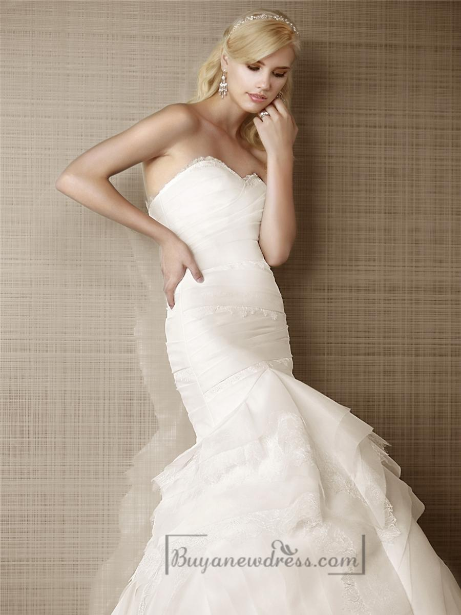 Mariage - Lovely Fit and Flare Sweetheart Lace Layers Wedding Dresses
