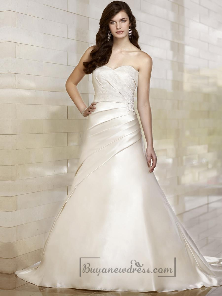 Wedding - Stunning Trumpet Sweetheart Wedding Dresses with Asymmetrical Pleated Skirt