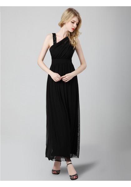 Свадьба - Sheath Column V Neck Ankle Length Black Evening Dress