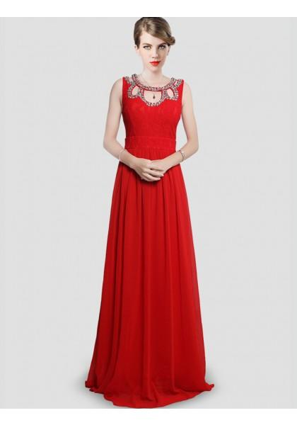 Свадьба - Sheath Column Tank Top Floor Length Champagne Evening Dress