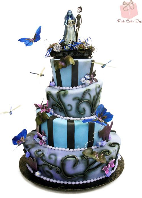 Wedding - Corpse Bride Wedding Cake » Halloween Cakes