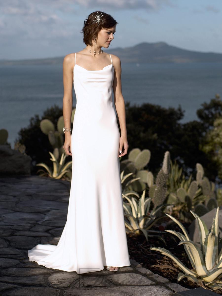 Boda - Sexy Formal Spaghetti Straps Square Neckline Deep Backless Wedding Dresses