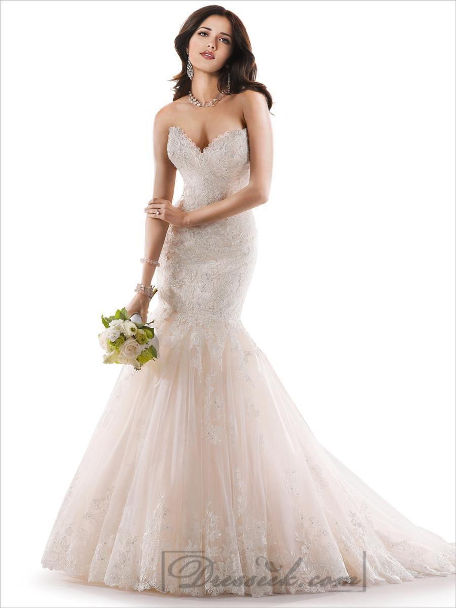 Corset back mermaid wedding dress for T back wedding dress