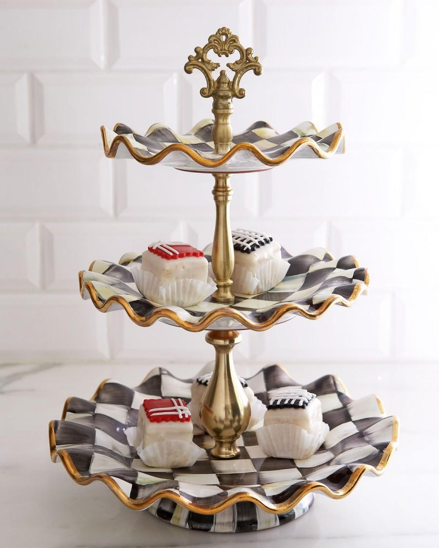Wedding - MacKenzie-Childs				 		 	 	   				 				Courtly Check Tiered Server