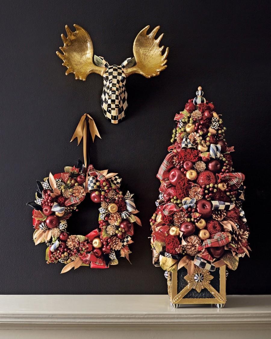 Wedding - MacKenzie-Childs       Large Gala Christmas Wreath