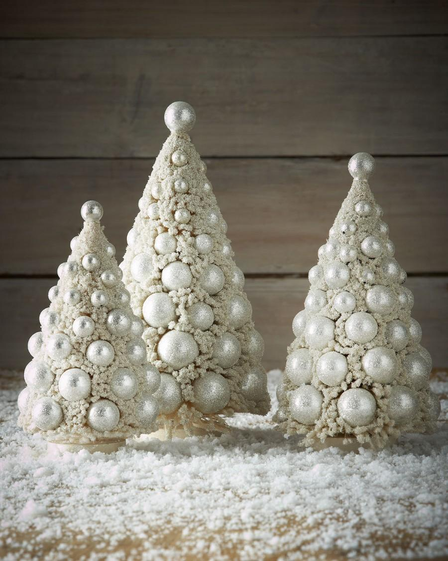 زفاف - Bethany Lowe 				 			 		 		 	 	   				 				Three Ivory Bauble Trees
