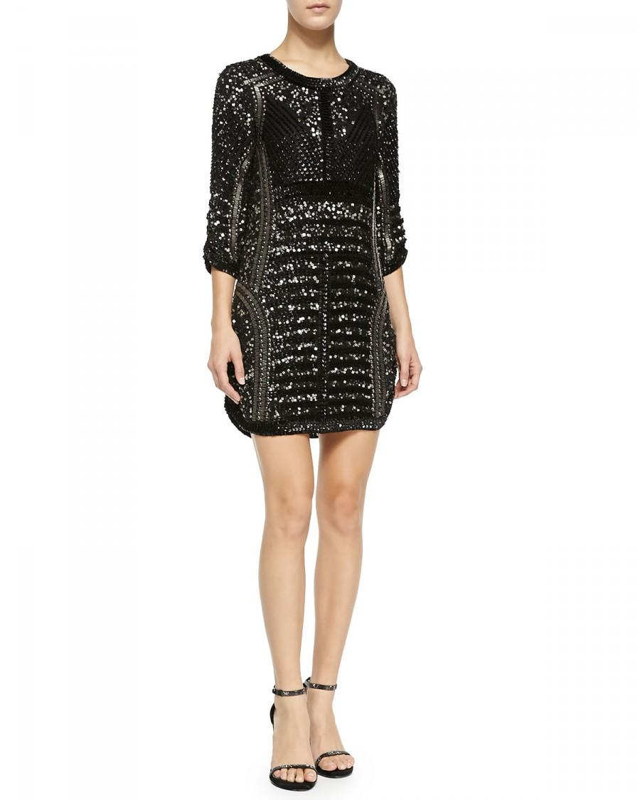 Parker Evening Petra Sequined Amp Beaded Cocktail Dress 2198109