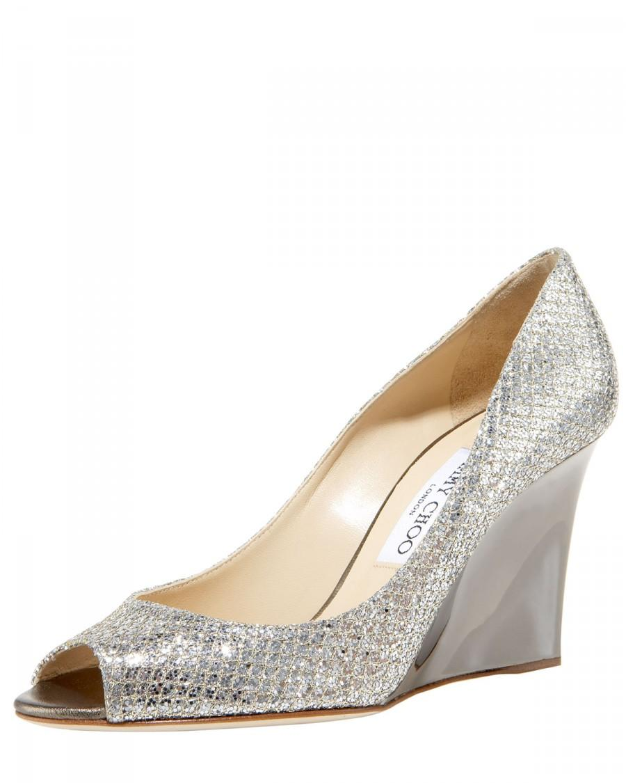 Mariage - Jimmy Choo				 		 	 	   				 				Baxen Glittered Wedge Pump