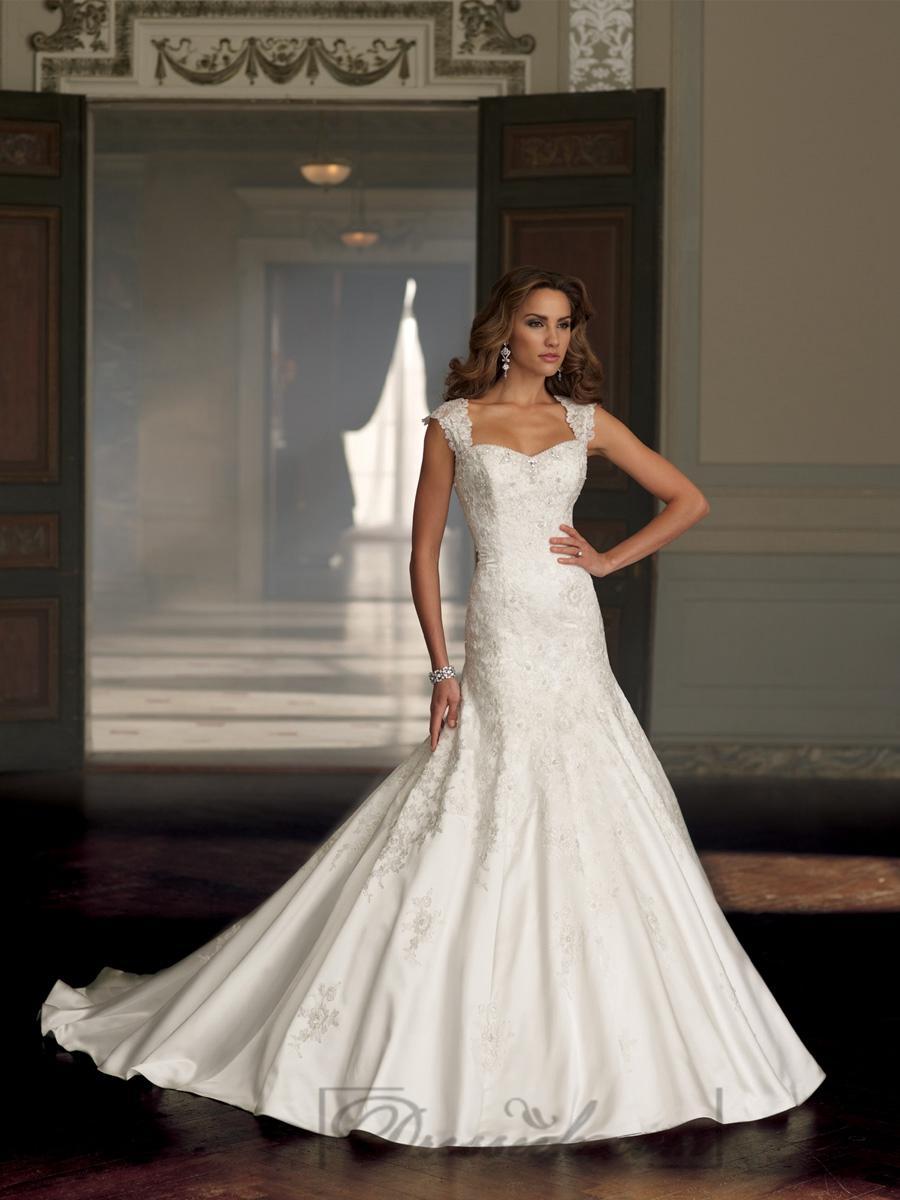 Wedding - Cap Sleeves A-line Sweetheart Beaded Wedding Dresses