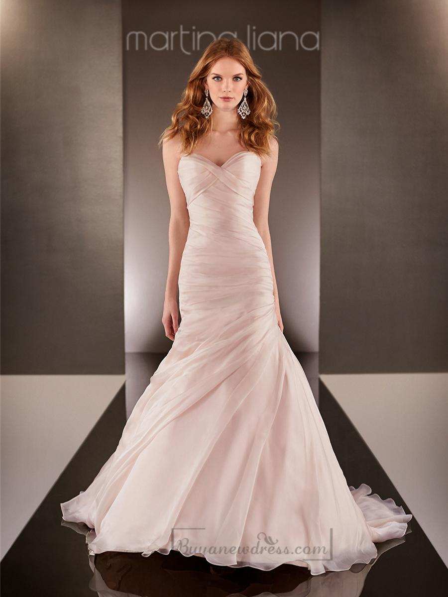 Wedding - Fit and Flare Cross Sweetheart Neckline Ruched Bodice Wedding Dresses