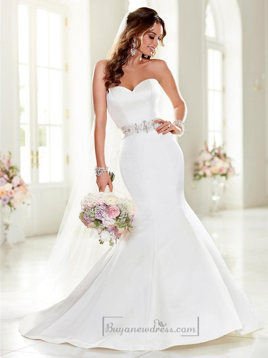 Mariage - Strapless Sweetheart Mermaid Wedding Dresses with Beading Waist