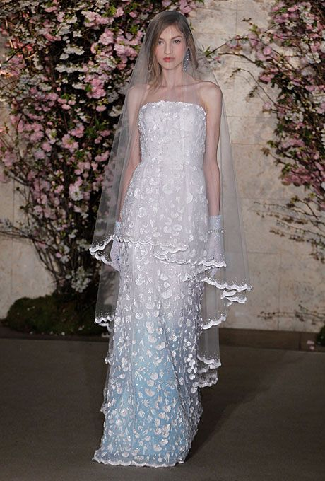 Свадьба - Oscar De La Renta - Spring 2012 - Strapless Silk Organza A-Line Wedding Dress With Scalloped Lace Details