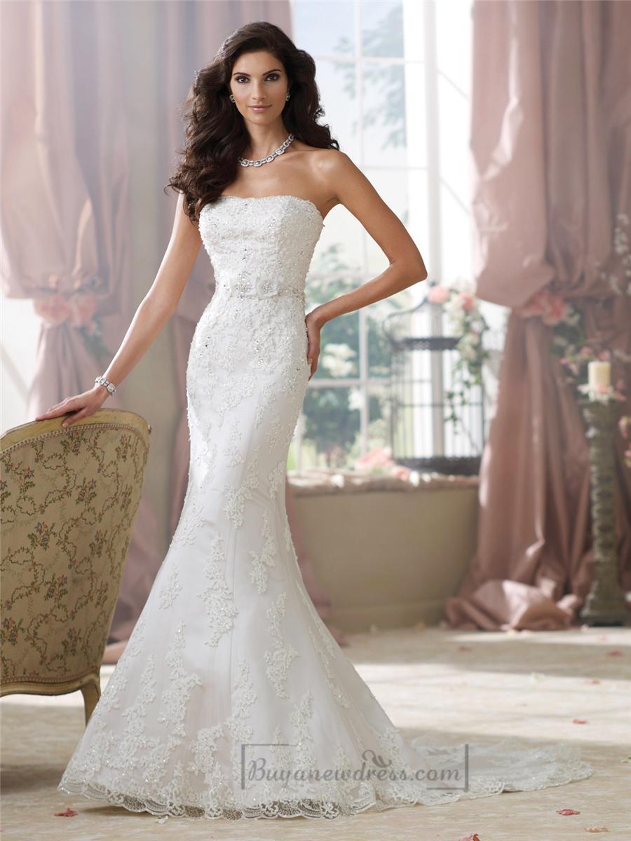 Wedding - Strapless Lace Appliques Mermaid Wedding Dresses