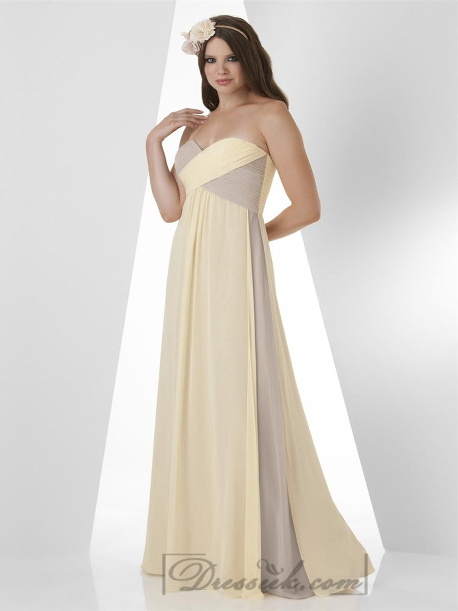 Wedding - Shirred Criss Cross Sweetheart Empire Bridesmaid Dresses
