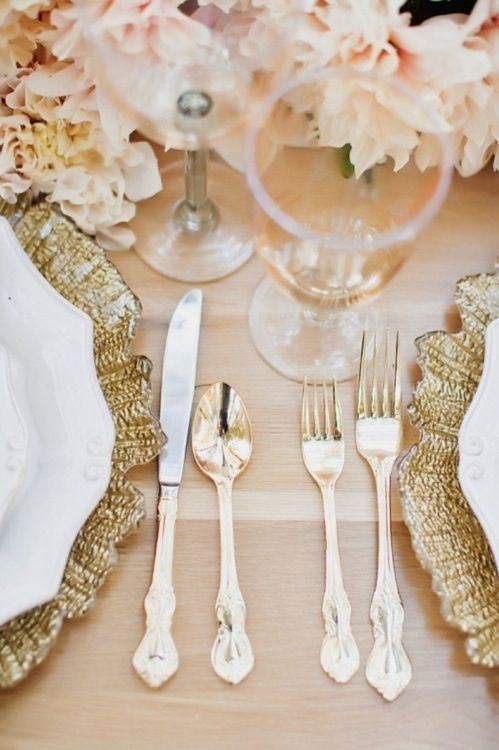 Romantic Wedding - Romantic Vintage Table Settings.. #2199855 - Weddbook