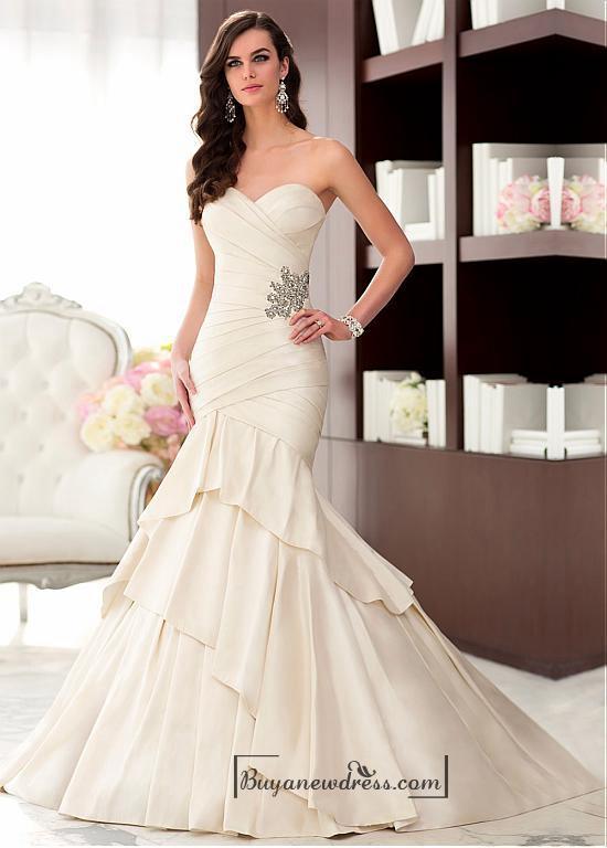 Wedding - Alluring Taffeta Sweetheart Neckline Natural Waistline Mermaid Wedding Dress