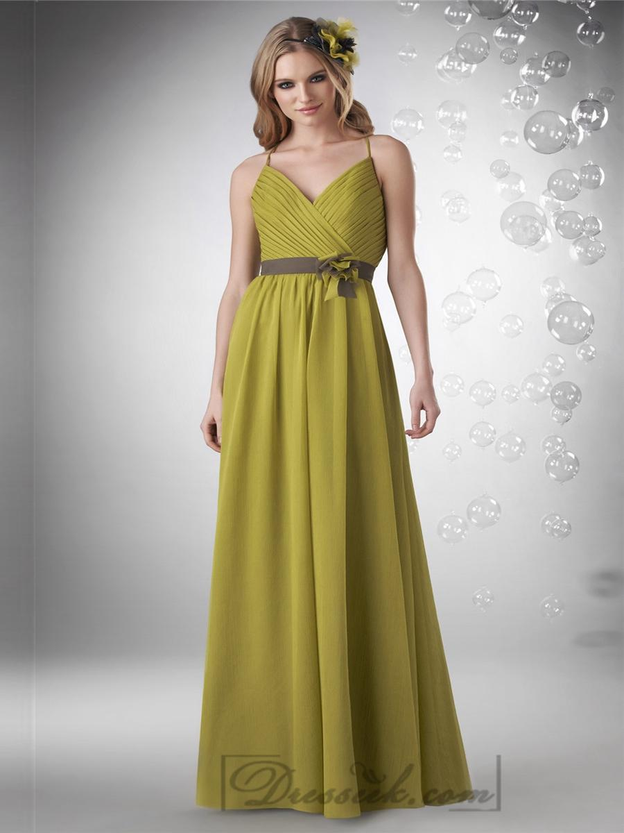 Hochzeit - Shirred Halter V-neck with Criss Cross Back Bodice Bridesmaid Dresses
