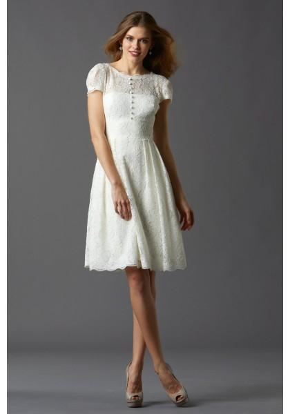 Свадьба - Modern Chic Tank Top Knee Length Lace A Line Wedding Dress