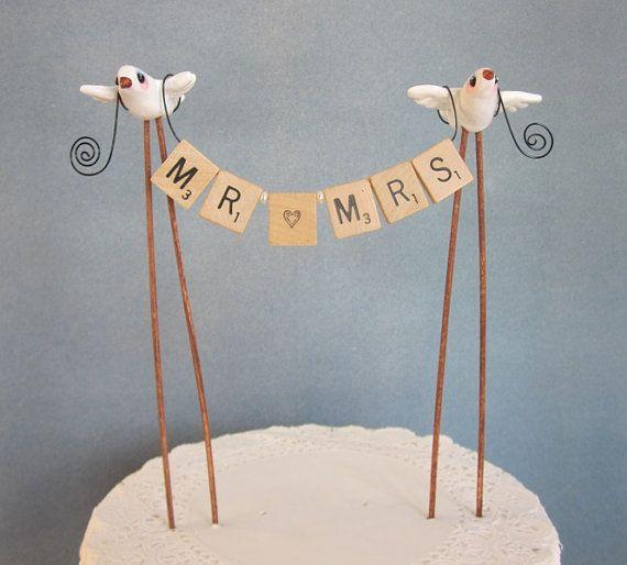 Свадьба - MR And MRS Wedding Cake Topper 2