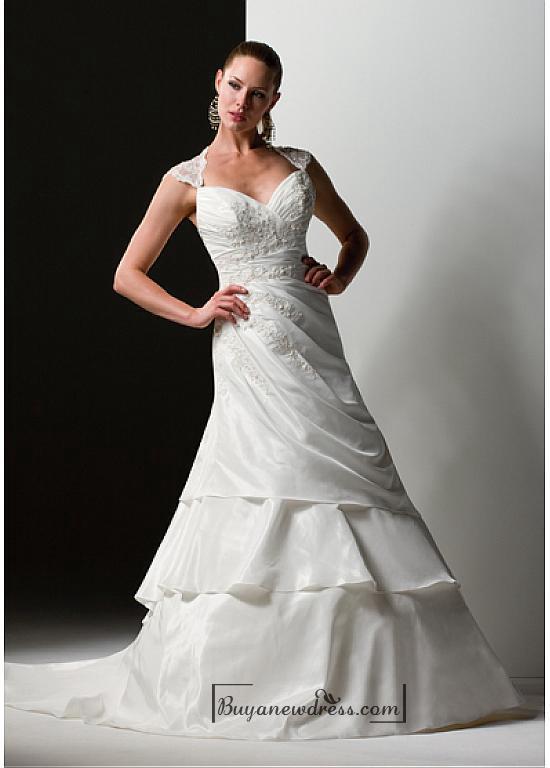 Nozze - Beautiful Elegant Exquisite Sweetheart Wedding Dress In Great Handwork
