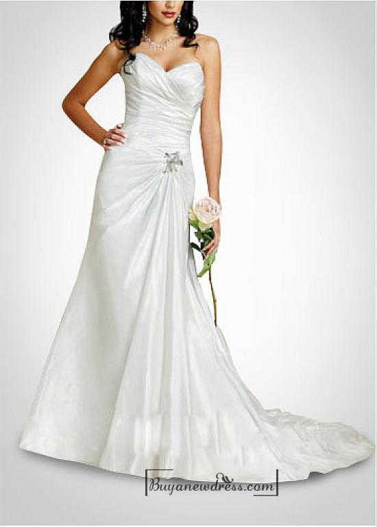 Hochzeit - Beautiful Elegant Exquisite Taffeta Sweetheart Wedding Dress In Great Handwork