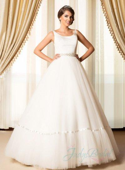 JW15084 Scoop Backless Tulle Ball Gown Bridal Wedding Dress 2200783