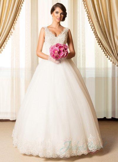 Hochzeit - JW15082 Elegant 2015 new strappy princess ball gown wedding dress