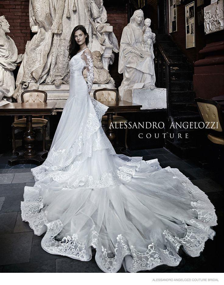 Bianca Balti Stuns In Wedding Gowns For Alessandro ...