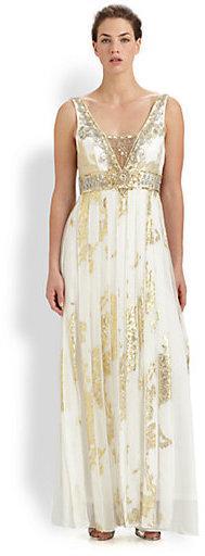 Hochzeit - Sue Wong Beaded Silk Jacquard Gown