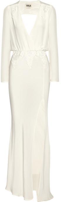 Hochzeit - Finds + Stone Cold Fox Alabama lace-trimmed silk gown
