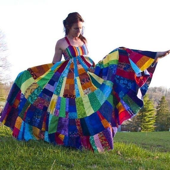 c212349d019 Custom String Theory Rainbow Festival Apron Dress  2202815 - Weddbook