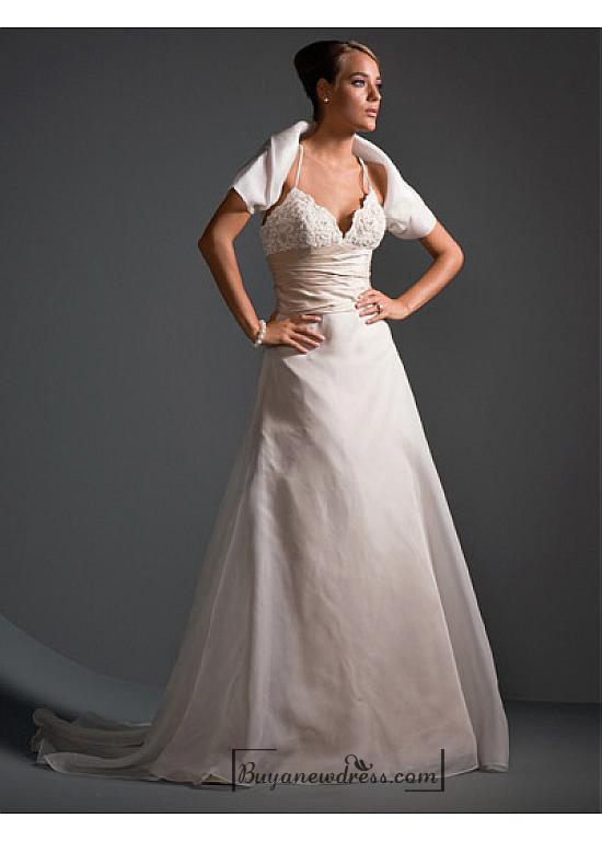 Wedding - Beautiful Elegant Exquisite Wedding Dress In Great Handwork
