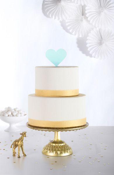 Свадьба - Heart Cake Topper In Aqua Acrylic