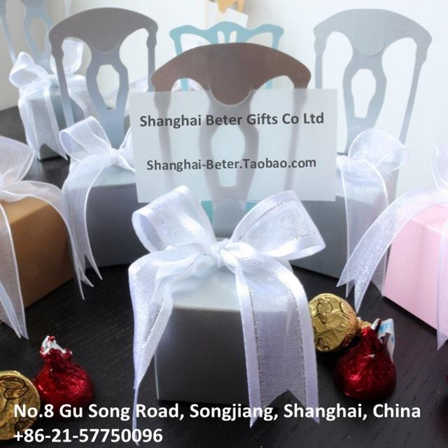 Wedding Favor Box TH002-B1 Miniature Gold Chair Candy Box With ...