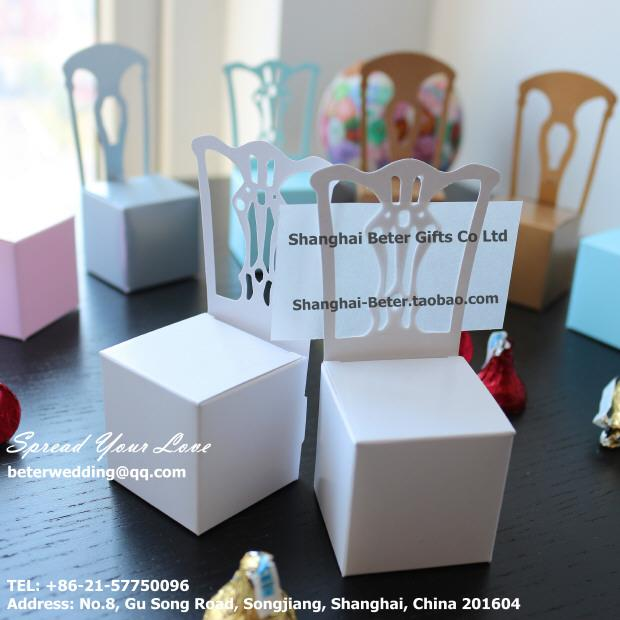 TH005-A0 Miniature Chair Place Card Holder And Favor Box With Card ...