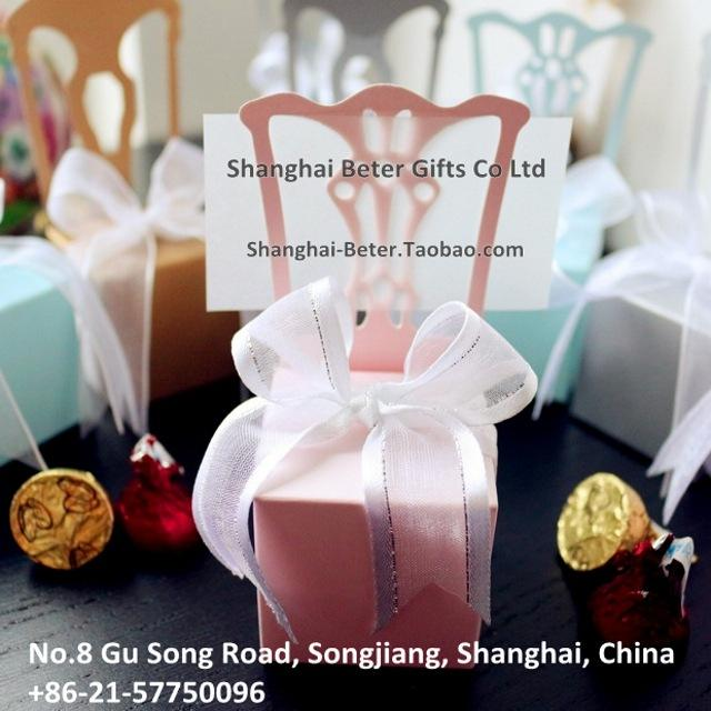 Wedding Favor Box TH005-B2 Miniature Chair Candy Box With Ribbon ...
